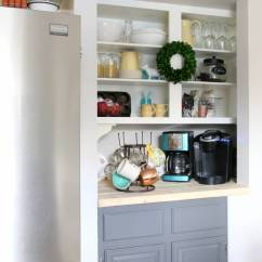 Target Kitchen Cabinet Corner Upper Pantry Converted To A Coffee Bar! | All Things With Purpose