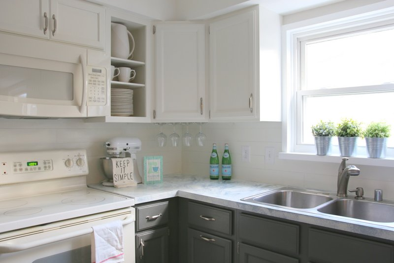 ikea kitchen cabinet handles coloured small appliances my fixer upper inspired reveal! | all things with ...