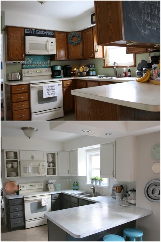 can i paint my kitchen cabinets corner shelf fixer upper inspired reveal! | all things with ...