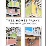Colorful Up Themed Diy Tree House Plans Digital Download