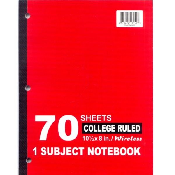 Units Of Wireless 1 Subject Notebook Narrow College