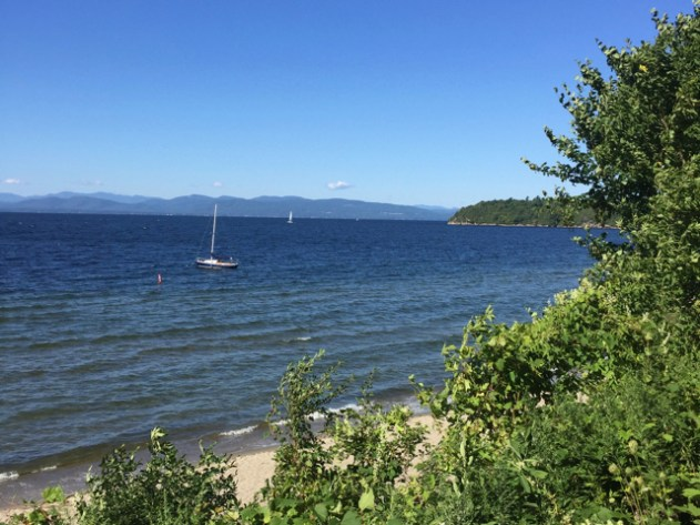 The view of Lake Champlain from North Beach Campground