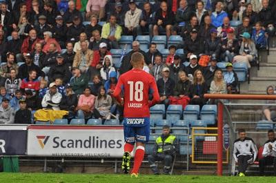 Jordan Larsson var tillbaka efter avstängning. Foto: Björn Wijk