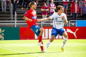 Daniel Nordmark visade åter målformen i U21 laget Foto: Samone Falkman