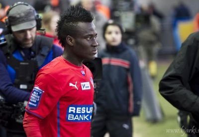 Accam utgick skadad i U21-matchen Foto: Bjarki Tordarson
