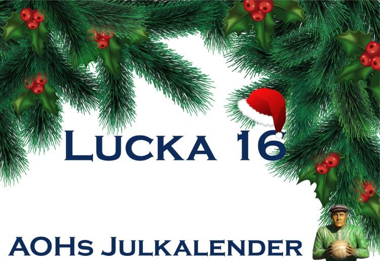"""AOHs julkalender – Lucka 16 """"-Jag tyckte det var lite trist att jag inte fick något erkännande för mitt spel i HIF, utan """"bara"""" för mina kvaliteter som målskytt"""""""