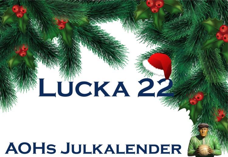 "AOHs julkalender – Lucka 22 ""En vattenfylld spann kylde ner den glödheta foten"""