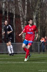 """""""Mischa"""" fick en straff emot sig i den 94:e minuten Foto: Bjarki Tordarson"""