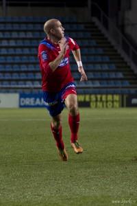Mattias Lindström var kapten för HIF:s u21 lag som förlorade igår. Foto: Bjarki Tordarson