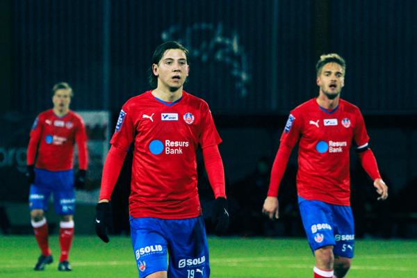 Darijan Bojanic var i centrum sist HIF mötte Kalmar (träningsmatch) Foto: Samone Klinteberg