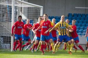 Det blev en tät tillställning i säsongens sista Helsingborgsderby Foto: Samone Falkman