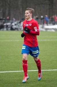 Jere blev matchhjälte och nu väntar vidare spel i cupen Foto: Bjarki Tordarson