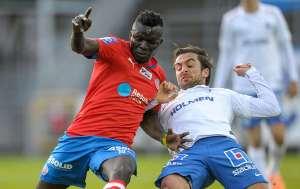 Lalawélé gjorde en bra match och blev tvåmålsskytt Foto: Björn Lindgren/TT
