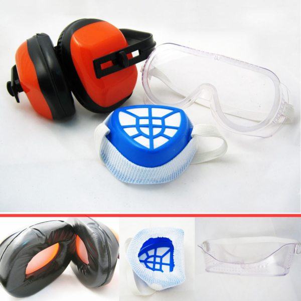 3pc Protection Kit Anti Dust Filter Face Mask Ear Muff