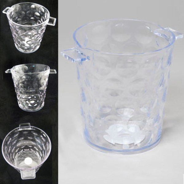 Clear Acrylic Ice Bucket Bar Container Plastic Wine