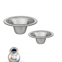 2 Pc Stainless Steel Mesh Sink Strainer Drain Stopper Trap ...