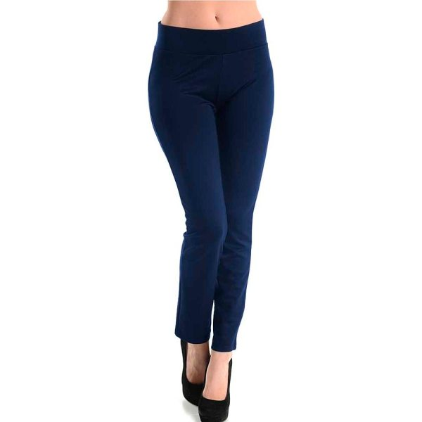 Womens Basic Cotton Full Length Leggings Spandex Pants Yoga Slim Sizes L