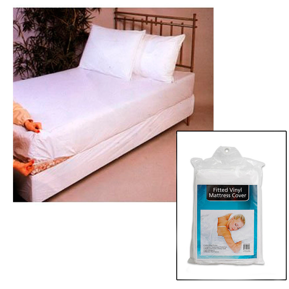 Twin Size Bed Mattress Cover Plastic White Waterproof Bug Protector Mites Dust