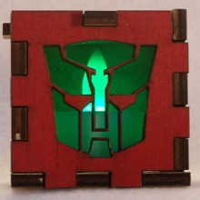 Autobots LED Gift Box green