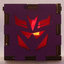 Decepticon LED Gift Box red