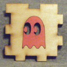 Pacman Ghost red LED Gift Box