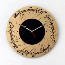 "Premade 14"" Wood Lord of the Rings Wall Clock"