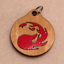 Magic the Gathering Red Mana Pendant