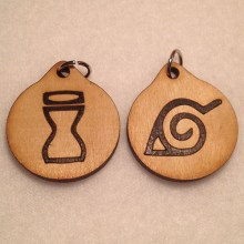Naruto Village Symbols Wood Necklaces and Pendants Group