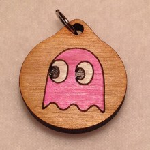 Pink Pac-Man Ghost Pendant