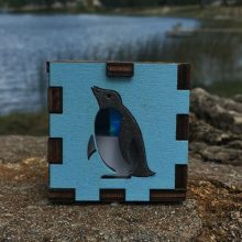 Penguin Blue LED Gift Box