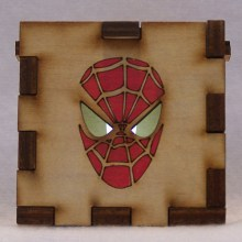 Spiderman LED Gift Box white