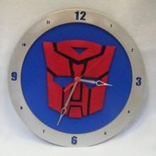 Autobot Blue Background Clock