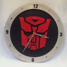 Autobot Transformers black background, 14 inch Build-A-Clock