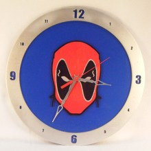 Dead Pool blue background, 14 inch Build-A-Clock