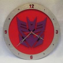 Decepticon Red Background Clock