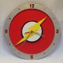 The Flash Symbol Red Background Build-A-Clock