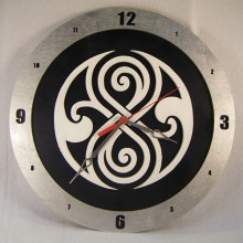 Gallifreyan Dr. Who black background, 14 inch Build-A-Clock