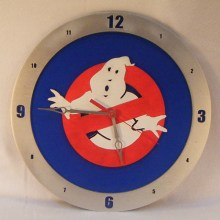 Ghostbusters Blue Background Clock