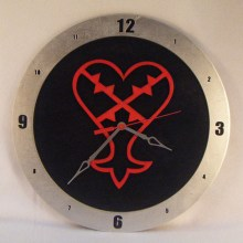"14"" Wood Heartless Kingdom Hearts Black Background Build-A-Clock"