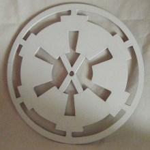 Galactic Empire Symbol Art Insert for Build-A-Clocks