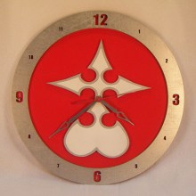 Nobody Kingdom Hearts red background, 14 inch Build-A-Clock