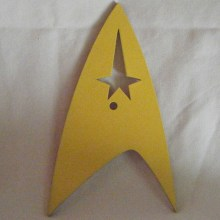 Star Trek (Yellow) Symbol Art Insert for Build-A-Clocks