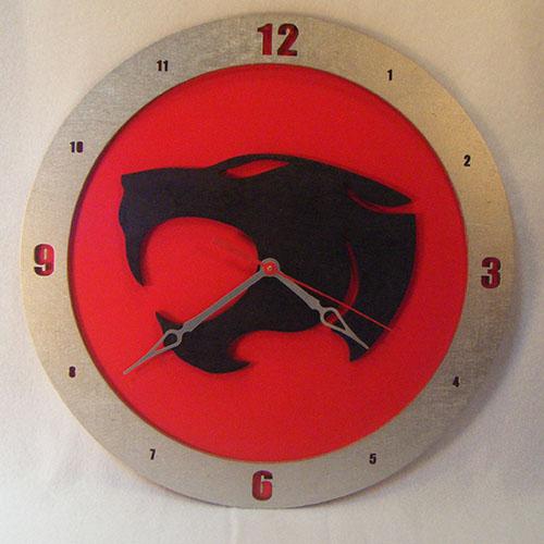 Thundercats Red Background Clock