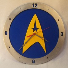 Star Trek blue background, 14 inch Build-A-Clock
