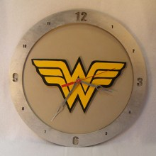 Wonder Woman beige background, 14 inch Build-A-Clock