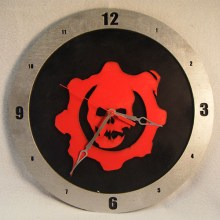 Gears of War black background, 14 inch Build-A-Clock