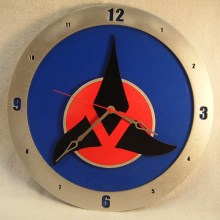 Klingon Star Trek blue background, 14 inch Build-A-Clock