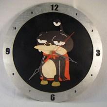 Nibbler Black Background Clock