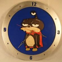 Nibbler Blue Background Clock
