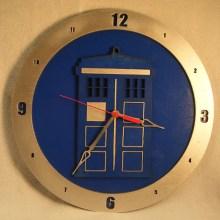TARDIS Blue Background Clock